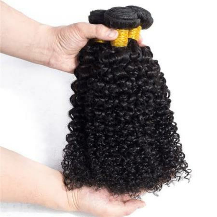 Four (4) Bundles of  Silky jerry Curly grade 9a - mslhair