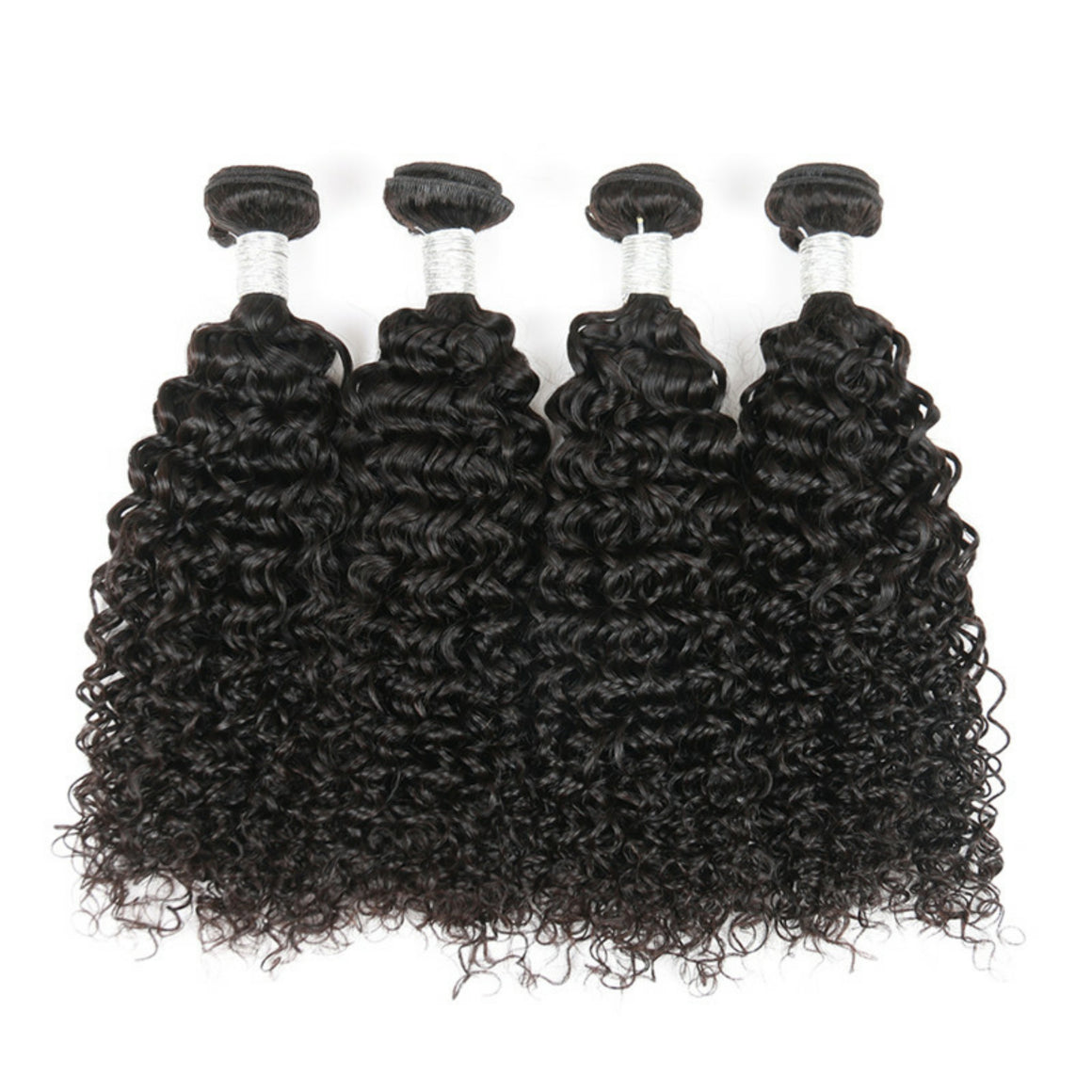 Four (4) Bundles of jerry Curly grade 10a - mslhair
