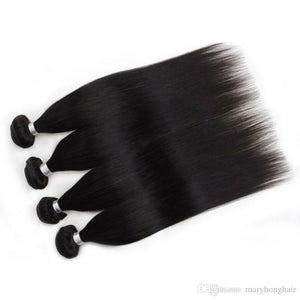 Four (4) Bundles of Silky Straight grade 10a - mslhair