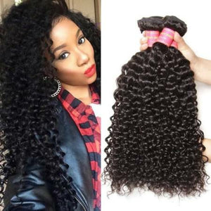 Peruvian jerry Curly hair in color 1b, grade 10a - mslhair