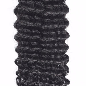 Brazilian Deep wave hair in color 1b, grade 10a - mslhair