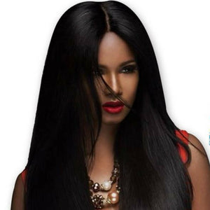 Brazilian Silky Straight hair in color 1b, grade 10a - mslhair