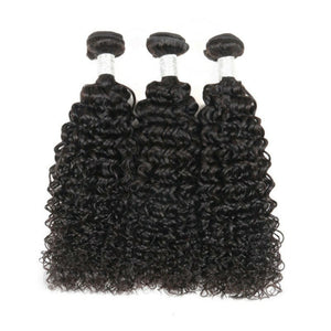 Silky jerry Curly Virgin hair in color 1b, grade 10a - mslhair
