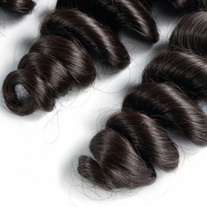 Silky Loose Wave Virgin hair in color 1b, grade 10a - mslhair