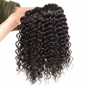 Brazilian Deep wave silky hair in color 1b, grade 9a - mslhair