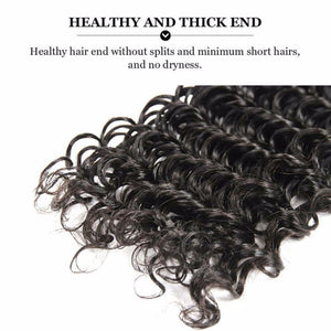 Silky Deep Wave Virgin hair in color 1b, grade 9a - mslhair