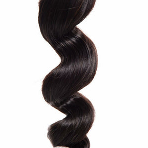 Brazilian Loose wave silky in color 1b, grade 9a - mslhair