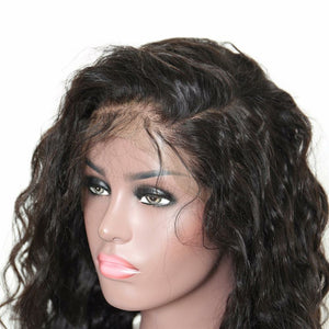 Loose Wave Lace Front wig pre-plucked with baby hairs made with grade 9a hair in natural color 1b. - mslhair