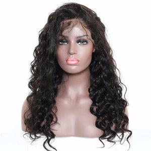 Loose Wave 360 (Full Lace ) wig plucked with baby hairs made with grade 9a hair in natural color 1b. - mslhair