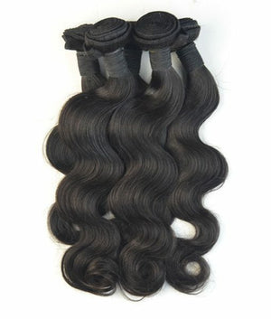 Malaysian Body wave silky in color 1b, grade 9a - mslhair