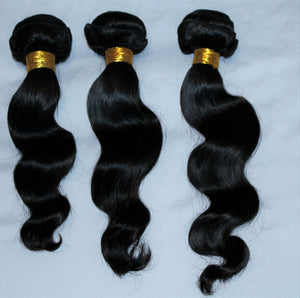 Malaysian Silky Body wave hair in color 1b, grade 10a - mslhair