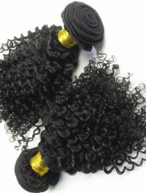 Malaysian Silky jerry curly hair in color 1b, grade 10a - mslhair