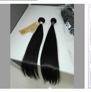 Indian Silky Straight hair in color 1b, grade 9a - mslhair
