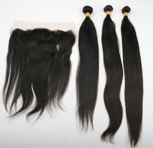 Three (3) Bundles of Silky Straight Double drawn - mslhair