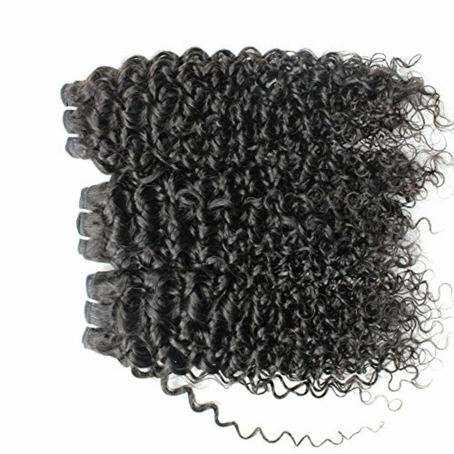 Three (3) Bundles of Silky jerry Curly grade 9a - mslhair