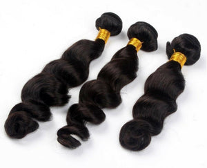 Three (3) Bundles of Silky Loose wave grade 10a - mslhair