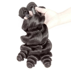Three (3) Bundles of Silky Loose wave grade 9a - mslhair