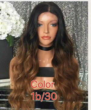 Dyed Body Wave Lace front wig with baby hairs and pre-plucked in colors 1, 1b/27, 1b/4/30,613, Grey, and Red - mslhair