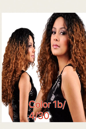 Dyed Curly Lace Front wig with baby hairs and pre-plucked  in colors 1, 1b/27, 1b/4/30, and Red - mslhair
