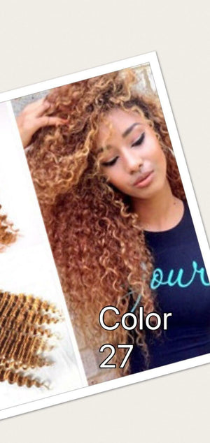 Ear to ear Deep wave lace frontal for colors 1, 27, 1b/27, 1b/30 pre-plucked with baby hairs. - mslhair