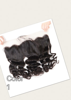 Ear to ear Loosewave lace frontal for colors 1, 27, 1b/27, 1b/30 pre-plucked with baby hairs. - mslhair