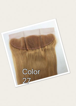 Ear to ear Straight lace frontal for colors 1, 27, 1b/27, 1b/30 pre-plucked with baby hairs. - mslhair