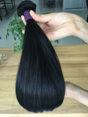 Brazilian Silky Straight hair in color 1b, grade 9a - mslhair