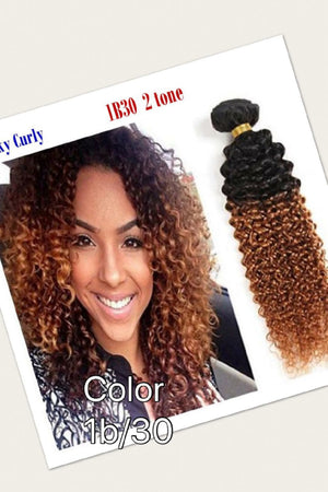Ear to ear Jerry curly lace frontal for colors 1, 27, 1b/27, 1b/30 pre-plucked with baby hairs. - mslhair