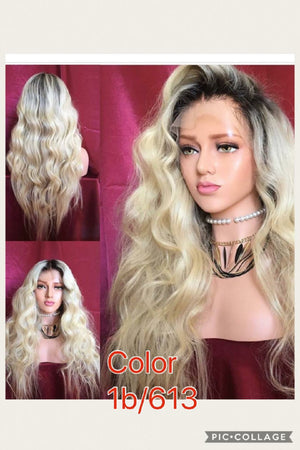 Dyed Body Wave 360 (Full Lace) wig with baby hairs and pre-plucked  in colors 1, 1b/27, 613, 1b/30, 33, Grey and Red - mslhair