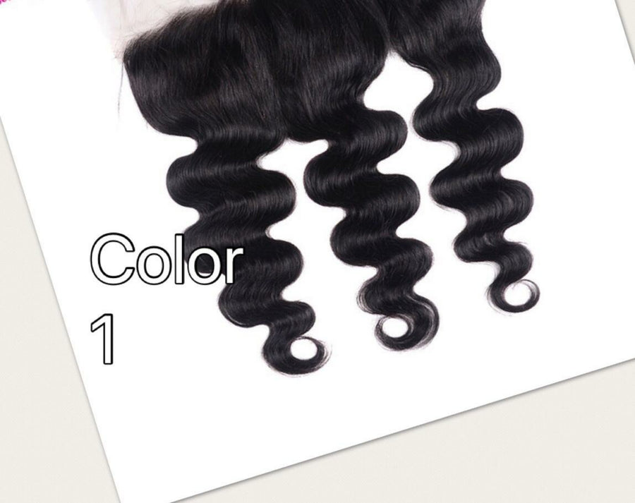 Ear to ear Bodywave lace frontal for colors 1, 27, 1b/27, 1b/30 pre-plucked with baby hairs. - mslhair