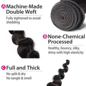 Two (2) Bundles of Silky Loose wave grade 10a - mslhair