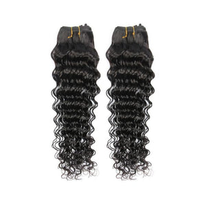Two bundles Deep wave hair and a 360 lace closure frontal - mslhair