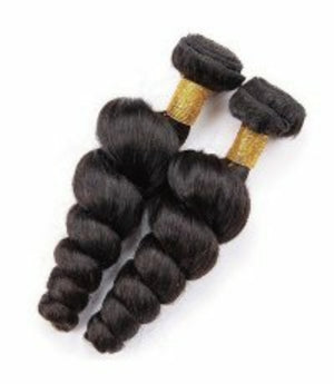 Two (2) Bundles of Silky Loose wave grade 9a - mslhair