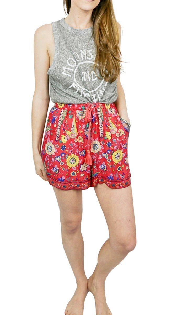 JoJo Patterned Shorts, red