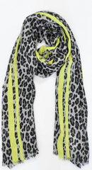 Animal scarf with lemon border