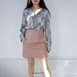 Sasi Vacay Faux Leather Skirt