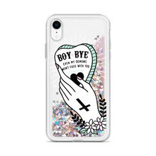 Boy Bye Glitter iPhone Case
