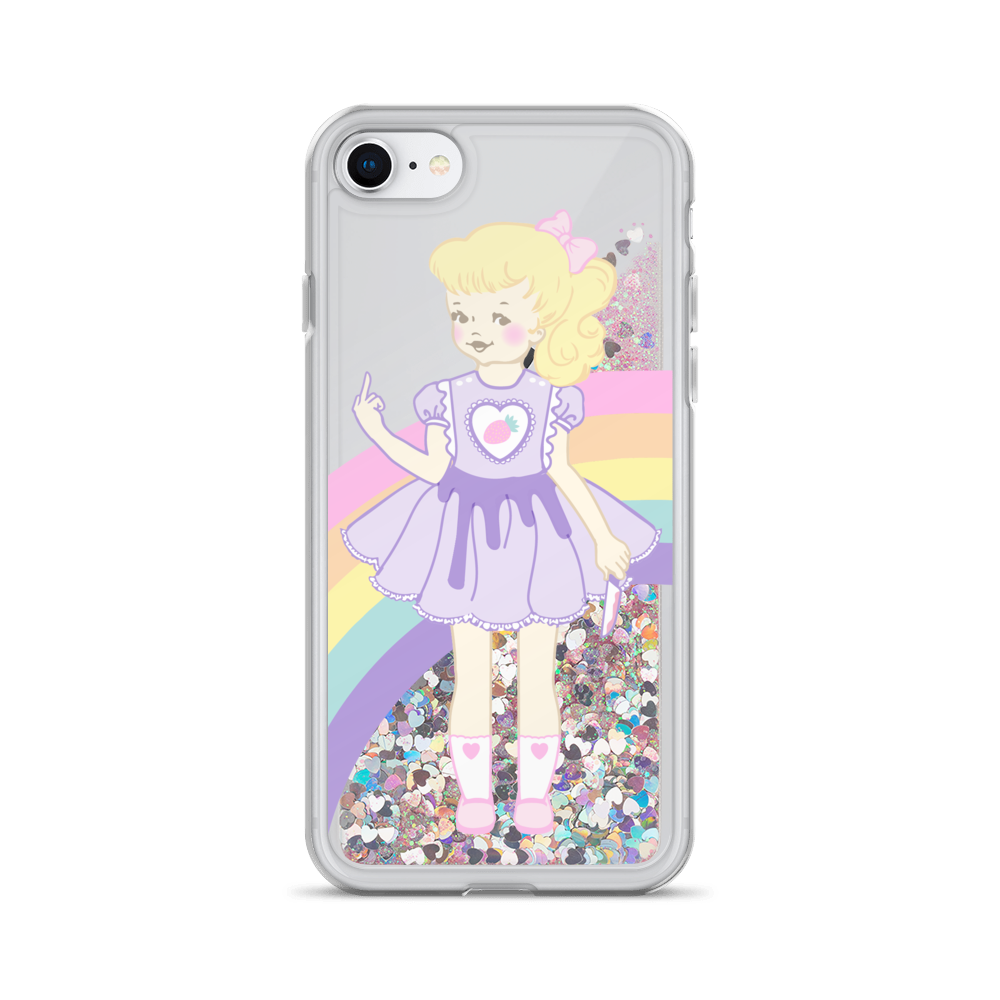 K-12 Strawberry Girl Liquid Glitter Phone Case