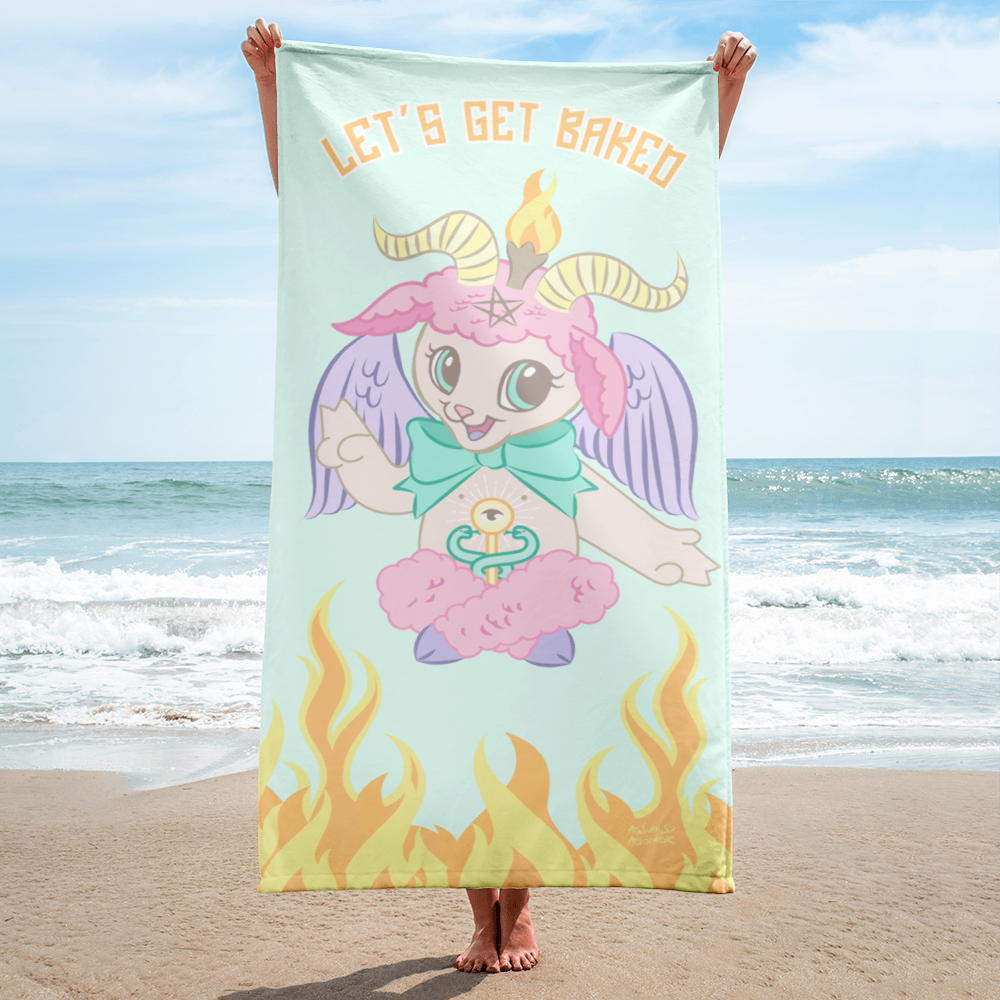 Let's Get Baked Beach Towel