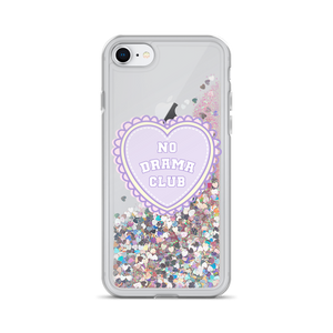 No Drama Club K-12 Liquid Glitter Phone Case