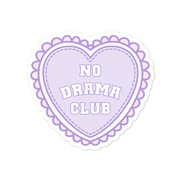 No Drama Club K-12 Sticker