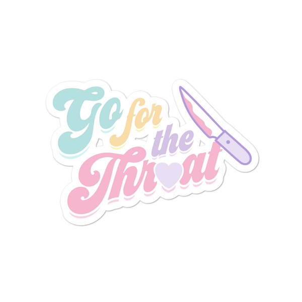 Go for the Throat K-12 Sticker