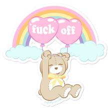 Fuck Off Teddy Sticker