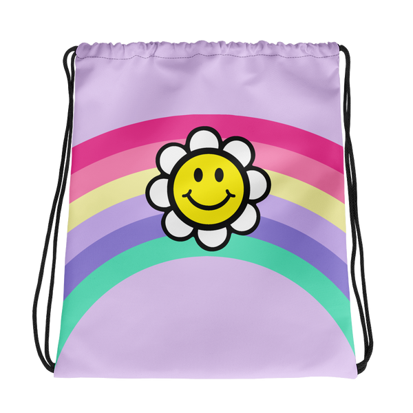 Happy Vibes Drawstring bag