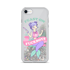 Feast on Fuckboys Glitter iPhone Case