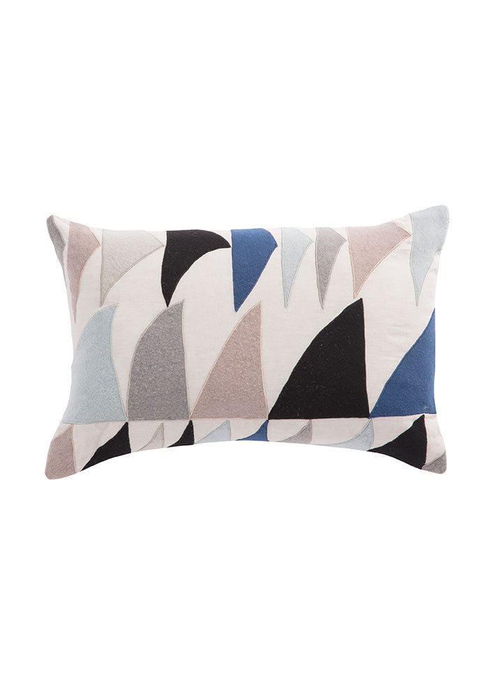 Sails of Triangles Throw Pillow