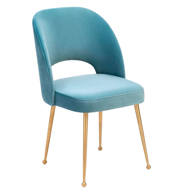 Bala Velvet Chair - Blue