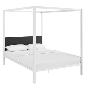 Charlotta Queen Canopy Bedframe - White