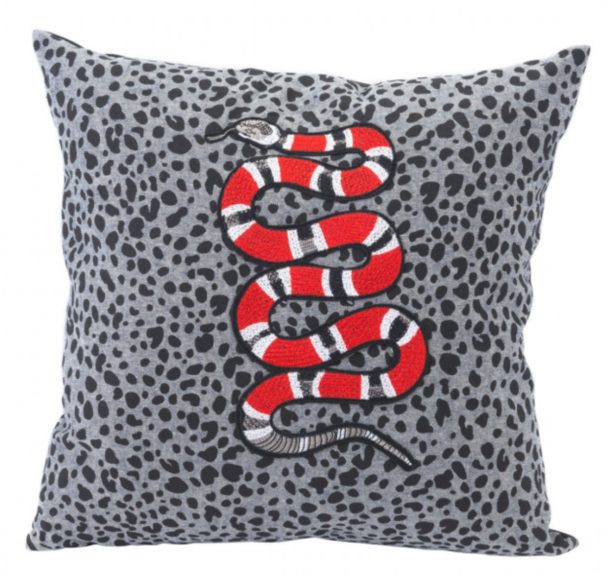 A Snaking Throw Pillow