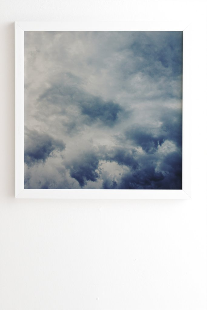 Nuages Blanc Framed Print